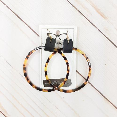 Tortoiseshell Acrylic Hoop Earrings