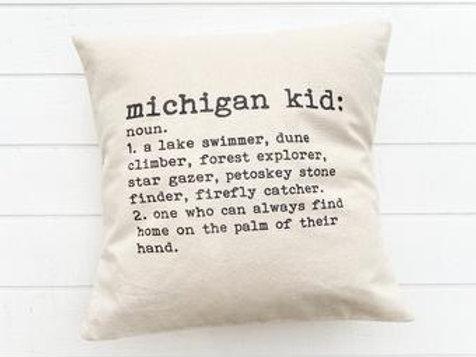 Michigan Kid Pillow by Brush & Timber