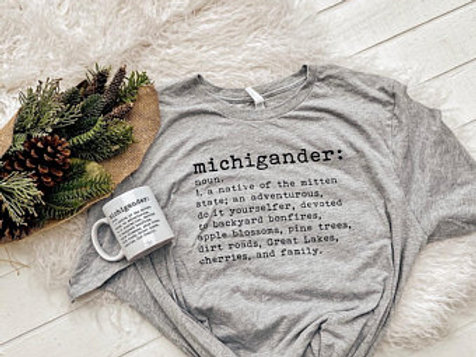 Michigander Tee by Brush & Timber