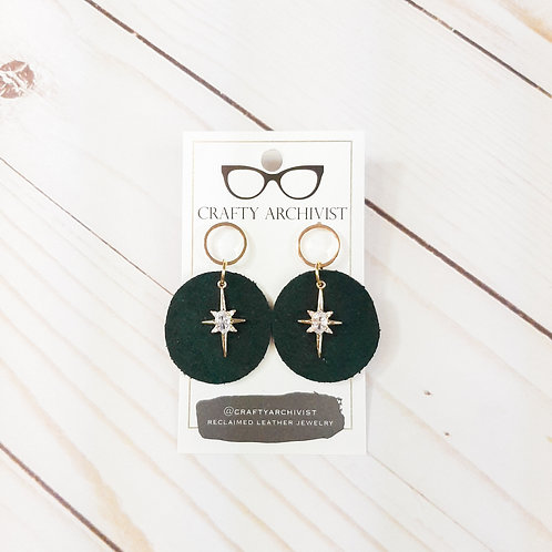 Cubic Zirconia and Green Suede