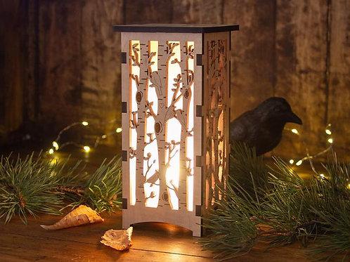 Birch Tree Forest Lantern by Four Crows Creative Studio