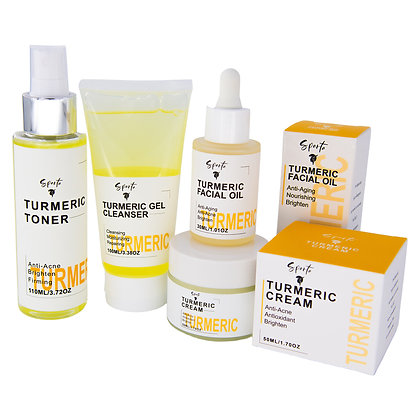 Turmeric Five Piece All Natural Facial Rejuvenation Set