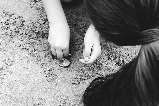 Future Fossils Project - Children playing in sand