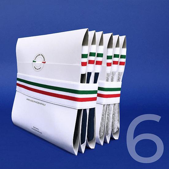 Pack 6 Slip Maniere Italiane