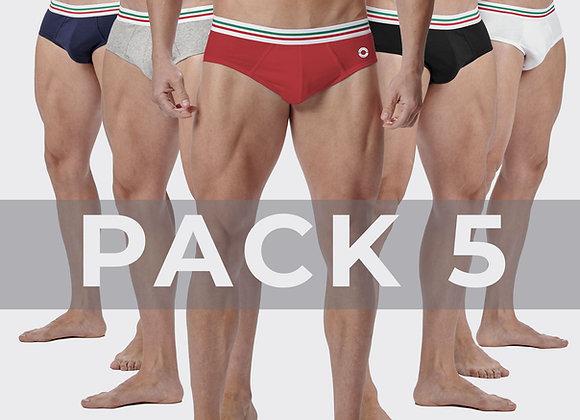 Pack 5 Slip Maniere Italiane