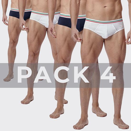 Pack 4 Slip Maniere Italiane