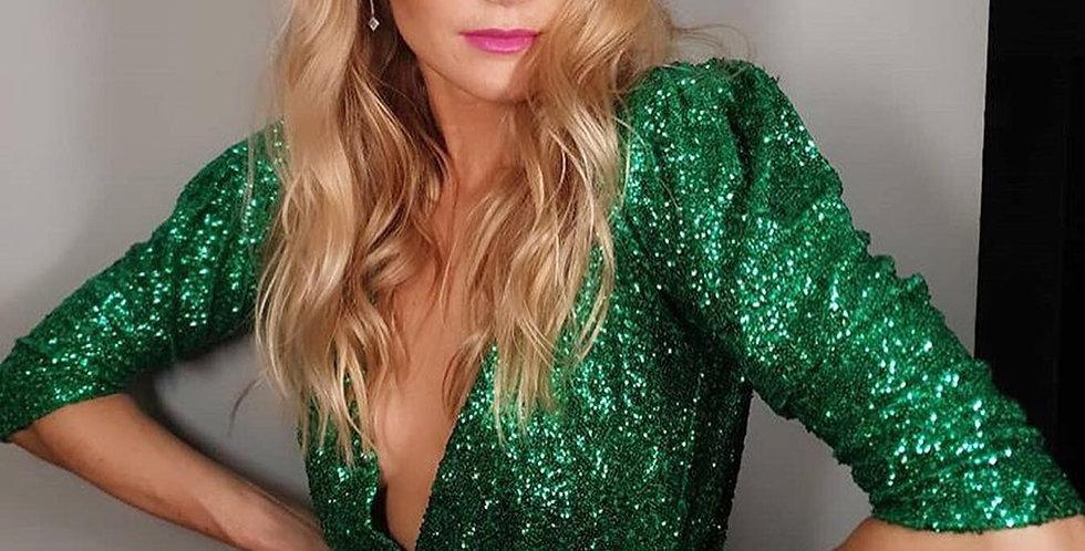 Vestido Aura verde largo