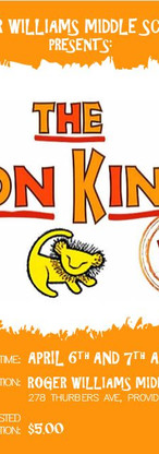 Roger Williams Middle School Presents The Lion King Jr.