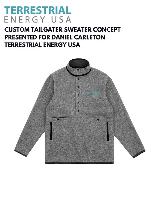 Terrestrial Energy Tailgater Sweater (5 inch wide / change bottom line to white)