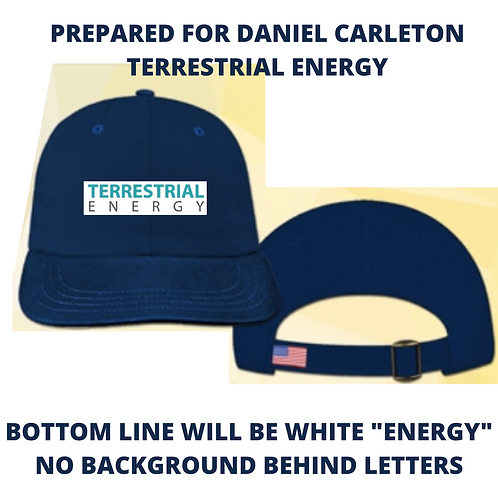 terrestrial energy cap - 12 total caps. bottom line white