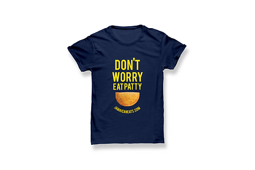 Unisex Don't Worry Eat Patty Navy T-Shirt
