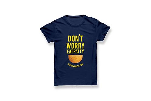 Unisex Don't Worry Eat Patty Shirt (Navy)