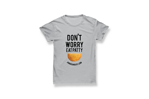 Unisex Don't Worry Eat Patty Gray T-Shirt