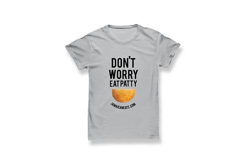 Unisex Don't Worry Eat Patty Shirt (Gray)