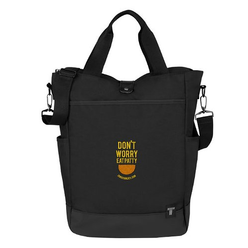 Don't Worry Eat Patty Travel Bag