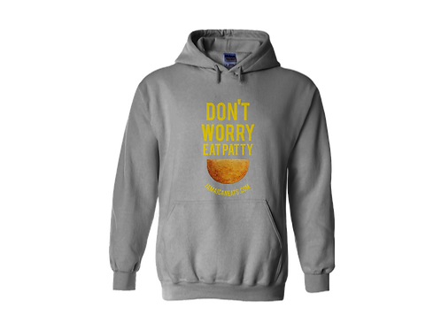 Unisex Don't Worry Eat Patty Hoodie (Gray)