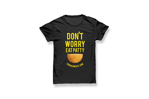 Unisex Don't Worry Eat Patty Shirt (Black)