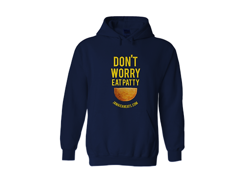 Unisex Don't Worry Eat Patty Navy Hoodie