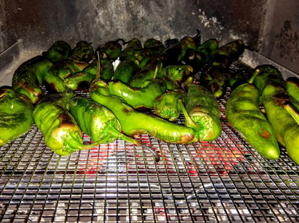 Roasting Hatch Green Chiles