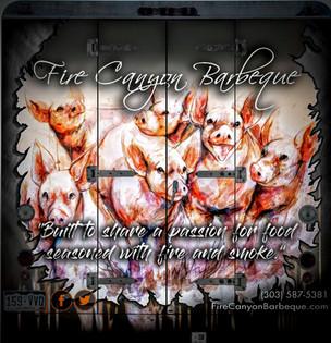 FCB Piggies on back of Badass