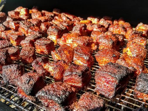 FCB Pork Belly Burnt Ends in Progress