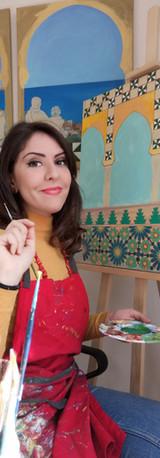 Atelier créatif avce la peintre Mejda