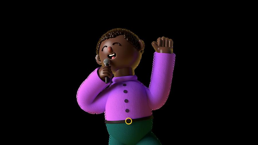 Purple Modern Illustrated 3D Humans Quiz
