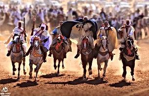 Assistez en exclusivité à une Fantasia algérienne (jeu de la poudre sur des chevaux Barbe) en direct de Tiaret (Algérie) en compagnie d'Amel et Ahmed, deux spécialistes et amoureux de l'art équestre.