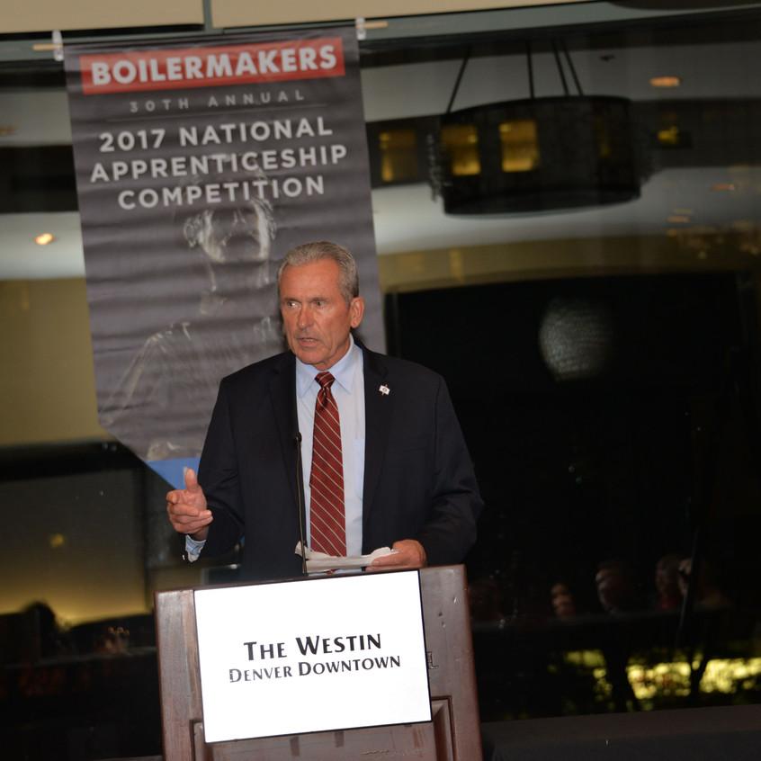 BNAP 2017 Awards Dinner - BNAP Secretary Larry McManamon Sr