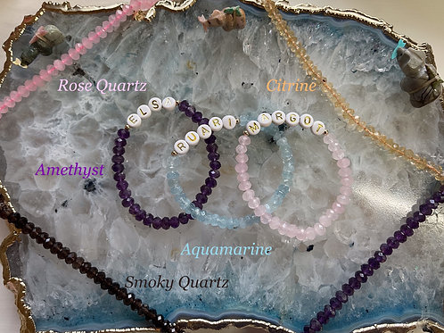 Faceted Candy Name Bracelets
