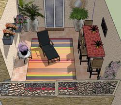terrasse : proposition d'aménagement
