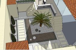 contre bas du jardin : conception