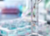 Las muestras de pipeteo y tubo de ensayo