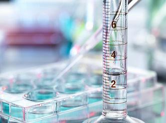 As amostras de pipetagem e Proveta