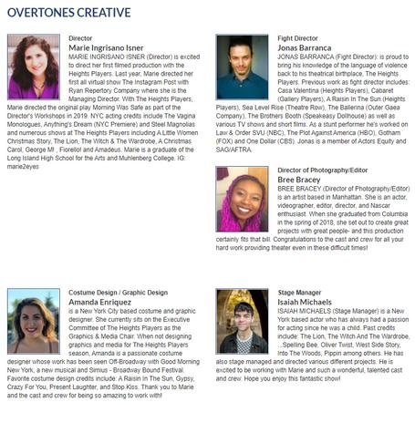 "The Creative Team of ""Overtones"""