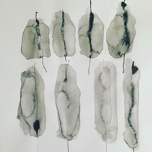 """"""" Feather"""" Paper.Sumi"""