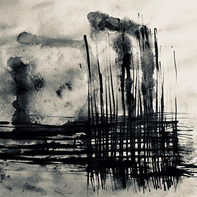 """"""" Ink flow""""  Paper. Sumi"""