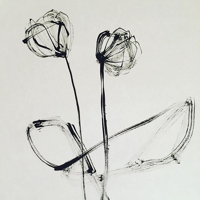 """Flower""  Paper.Sumi"