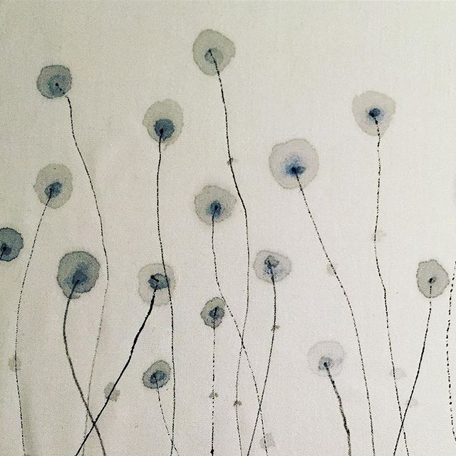 """""""Blooming""""  Cotton canvas.Pigment"""