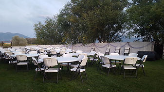 Tables and Chairs Set up