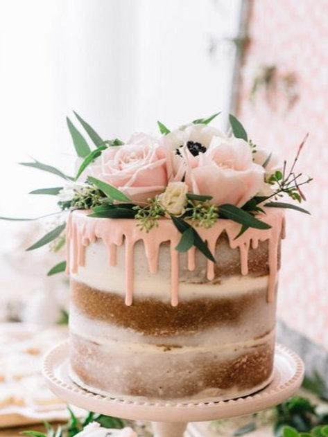 Strawberry Boho Cake