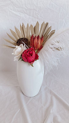 Urn and Dried Floral Arrangement