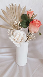 Tall Cylinder White Vase