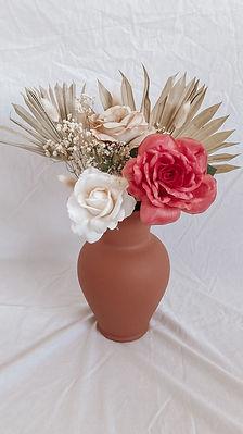 Copper Vase & Arrangement