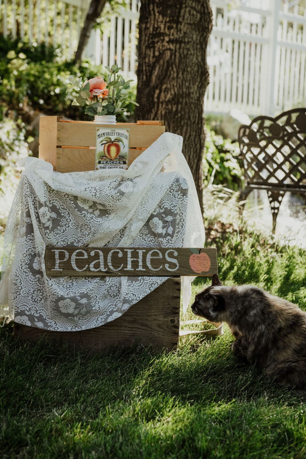 Rustic Crates & Peaches Sign