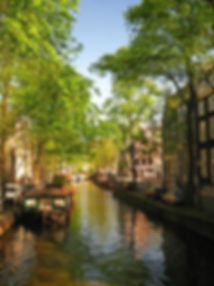 Dutch canal with boat