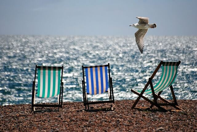 Beach scene perfect for summer A Level prep