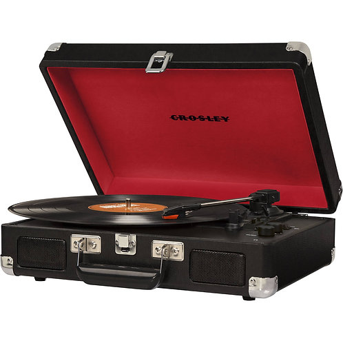 Crosley Cruiser Deluxe Portable Turntable (Black)