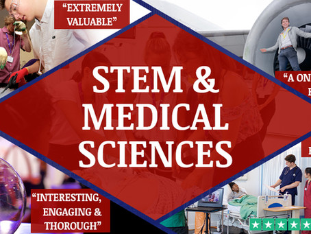 STEM & Medical Sciences Work Experience Ages 12-18 | 'Live Online' or In-Person at UCL
