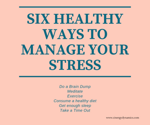 Six healthy ways to manage your stress